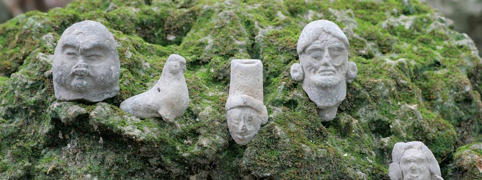 Preservation by Design - Mayan artifacts uncovered during ongoing excavations at Mirador, Guatemala.  FARES.