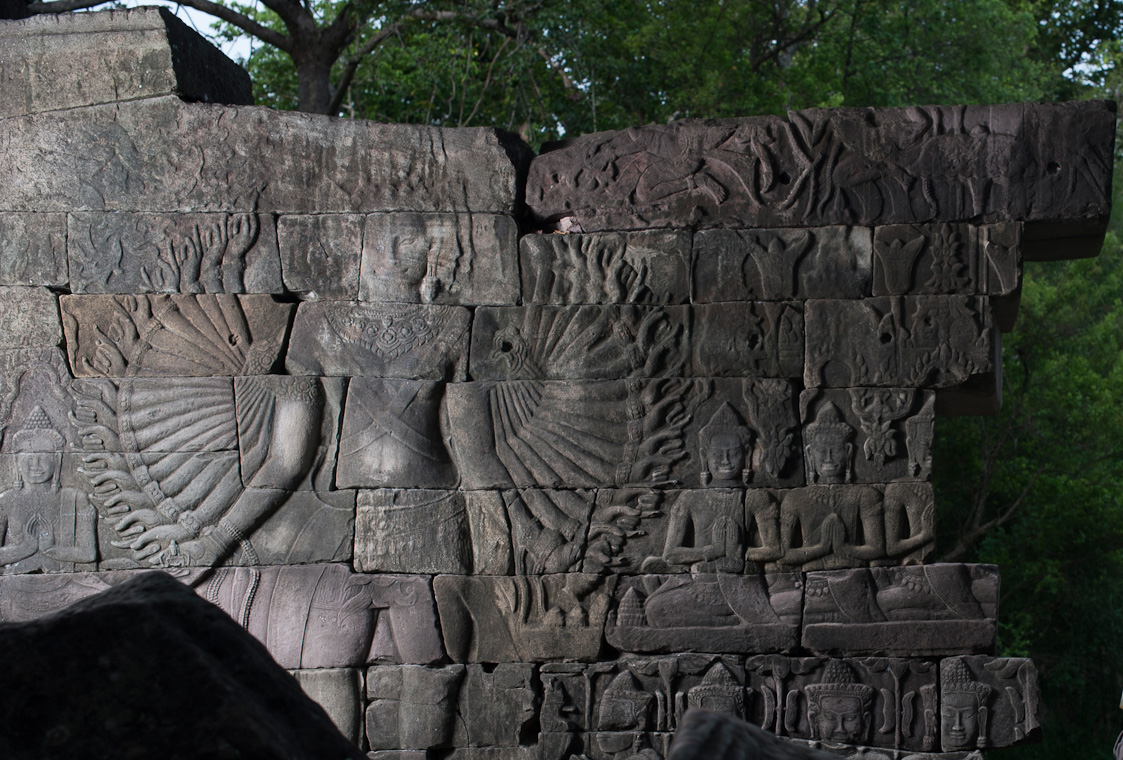 July 2012; Banteay Chhmar, Cambodia; Relief at the main Banteay Chhmar complex in Cambodia which was built by Khmer King Jayavarman 7th (1181-1219).  Mandatory Credit: Global Heritage Fund - Craig Stennett© 2012