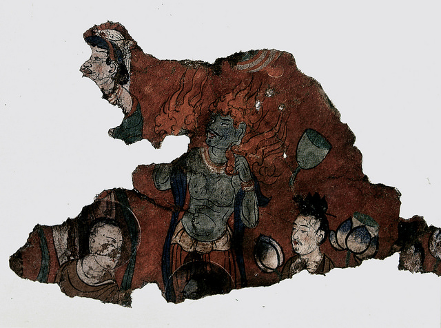 A detail from a fresco in Maijishan. ©Maijishan Grotto Art Institute and Global Heritage Fund