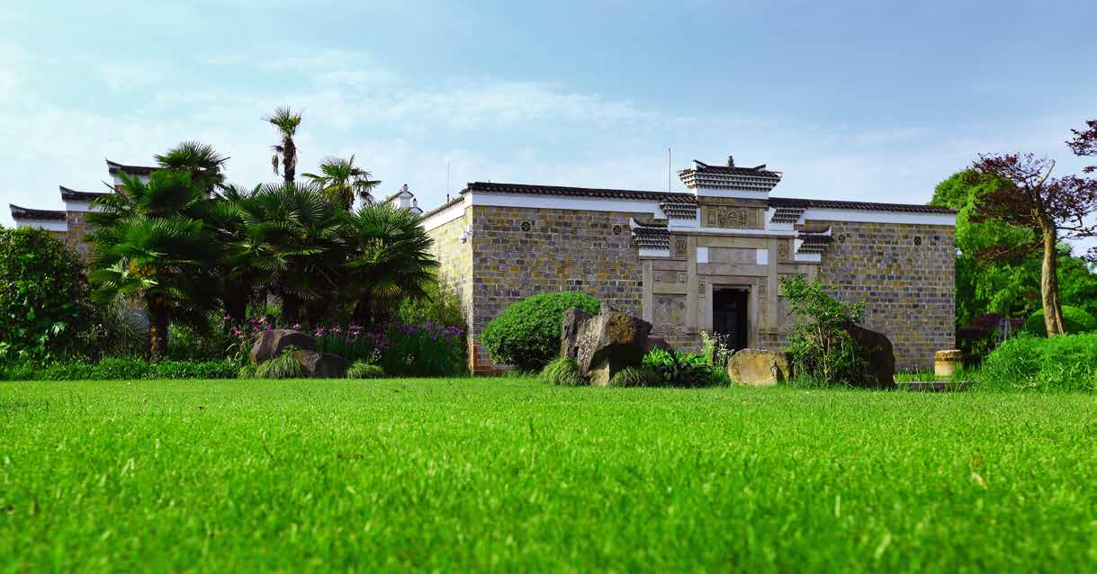 Antique Villa at Amanyangyun, situated in a relocated camphor forest outside of Shanghai.