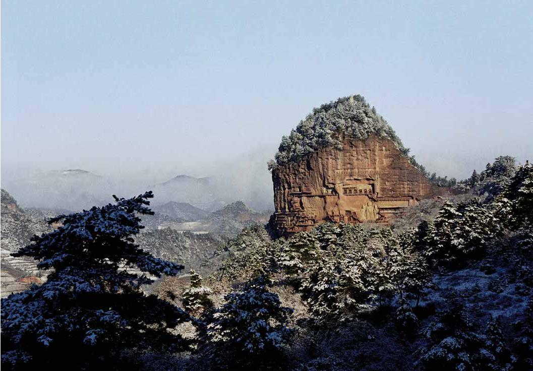 Maijishan inTianshui, Gansu.