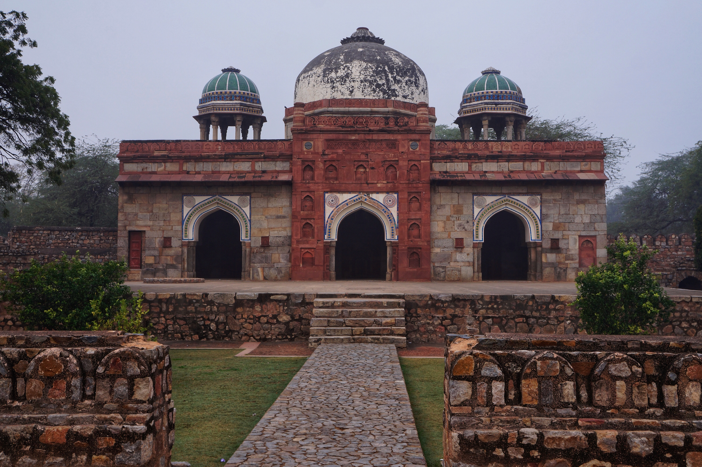 One of several structures comprising the UNESCO World Heritage Site of Humayun's Tomb in Delhi, India.