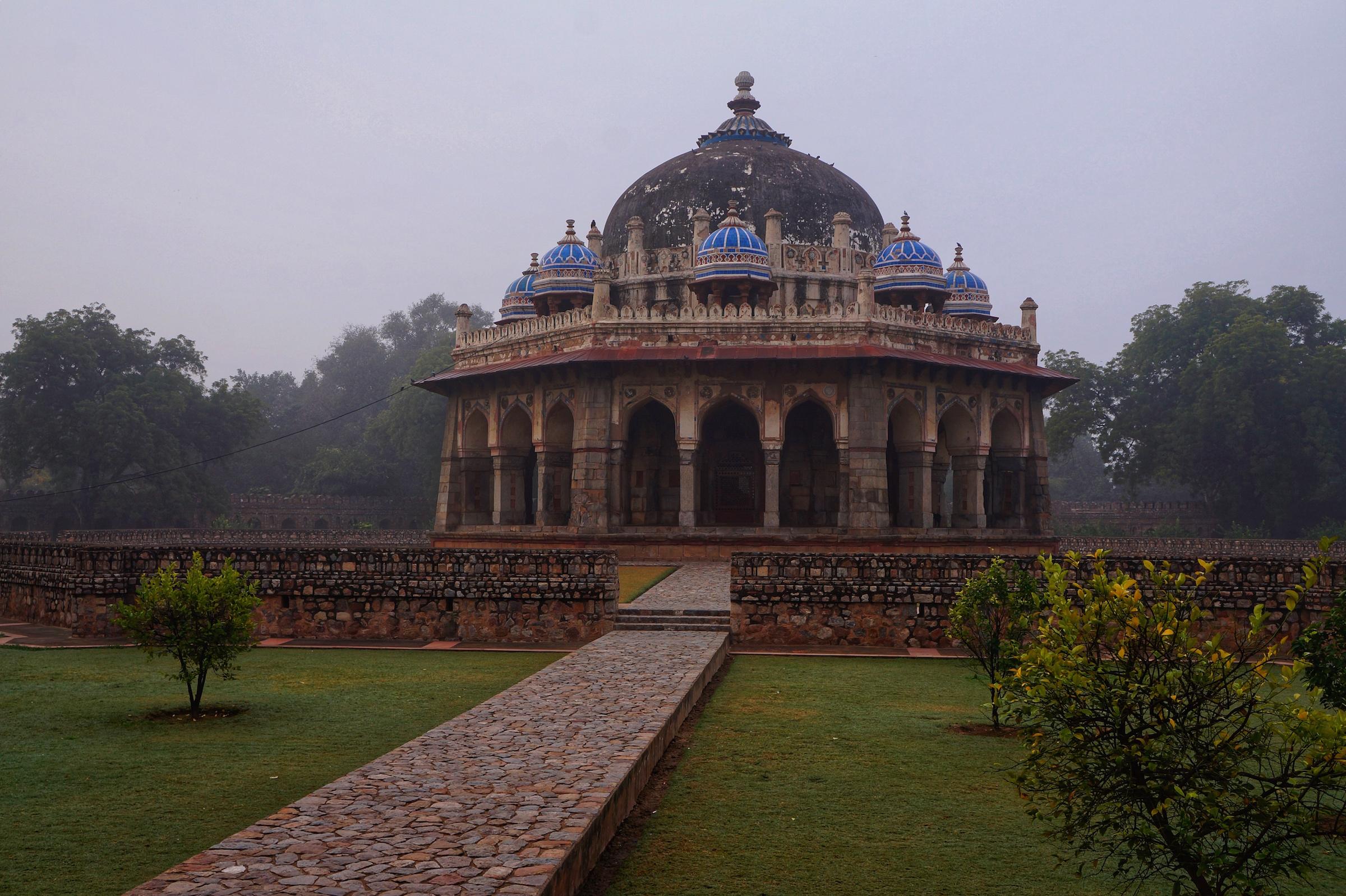 Isa Khan's Garden Tomb, part of the UNESCO World Heritage Site of Humayun's Tomb.